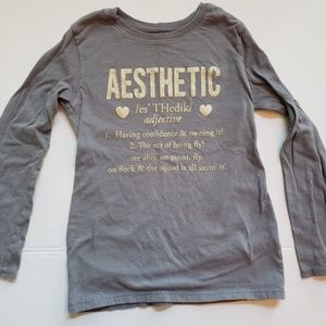 "Children's Place shirt ""Aesthetic"" Size 5/6"